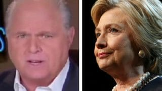 Rush Limbaugh, left, and Hillary Clinton, right.