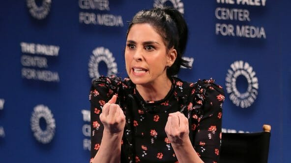 Sarah Silverman appears on stage