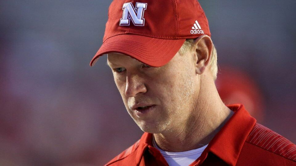 Nebraska head coach Scott Frost looks on before Saturday's game against Wisconsin at Camp Randall Stadium.
