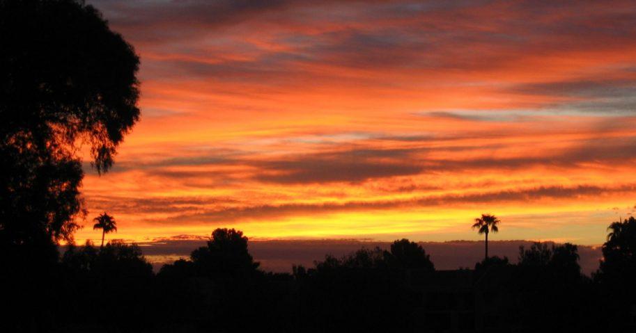 Sunrise in Scottsdale, Arizona, on Sept. 29, 2007.