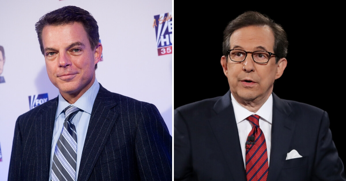 Shepard Smith, left, Chris Wallace, right.