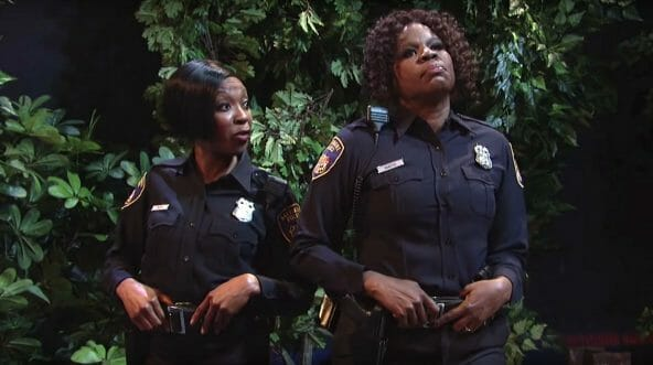 "The ""Saturday Night Live"" sketch ""Thirsty Cops"" featured two romantically desperate female Baltimore police officers pulling over a driver because they think he's a fine specimen of man."