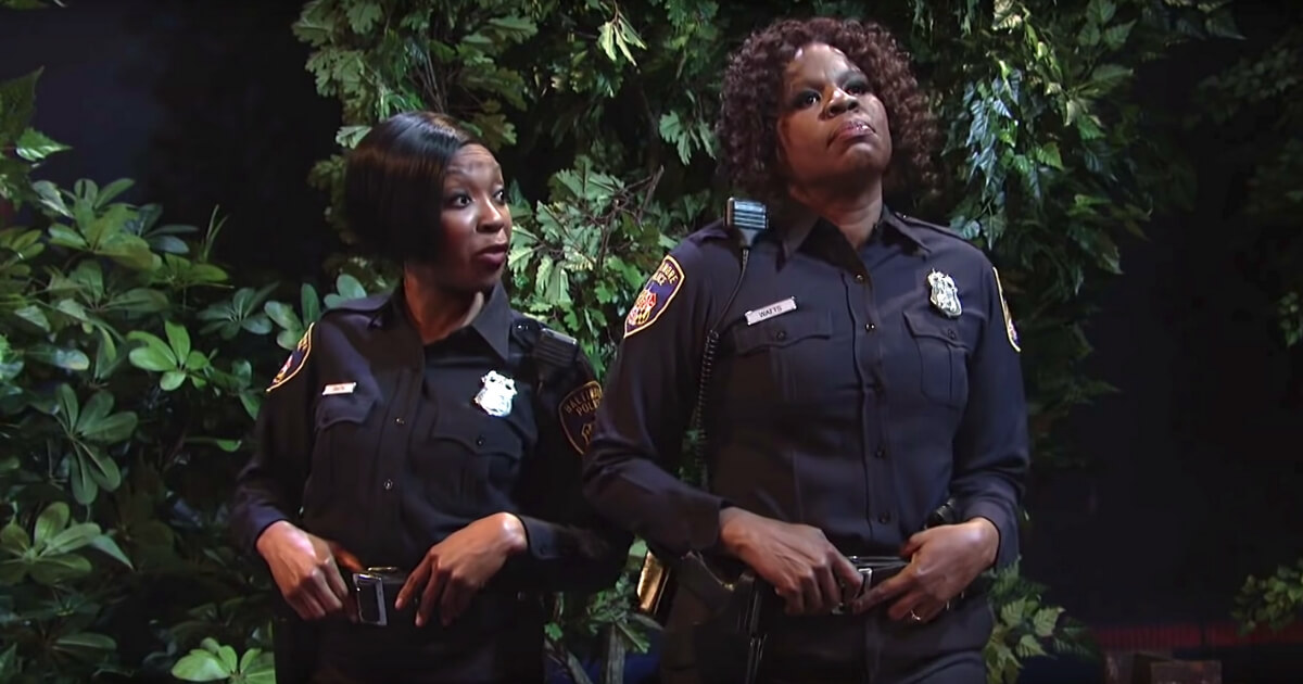 """The """"Saturday Night Live"""" sketch """"Thirsty Cops"""" featured two romantically desperate female Baltimore police officers pulling over a driver because they think he's a fine specimen of man."""