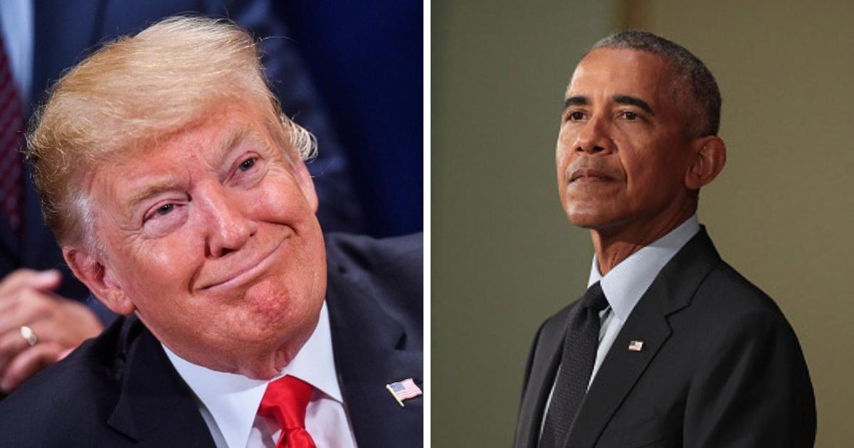 President Donald Trump and former President Barack Obama