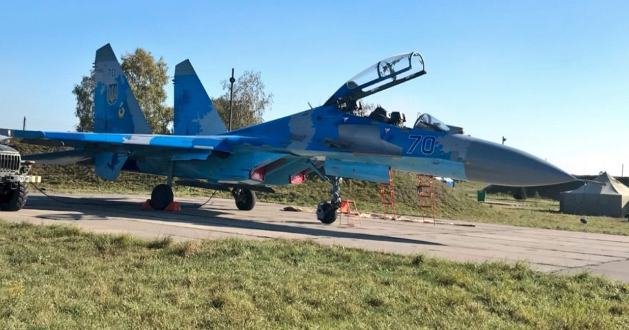 This Ukrainian fighter jet is believed to have been involved in a fatal crash Tuesday. An American was reported to be among the two pilots who died in the accident.