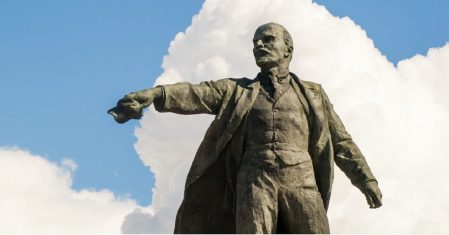 The statue of Vladimir Lenin, the original dictator of the Soviet Union, in Moscow Square in Russia's St. Petersburg.