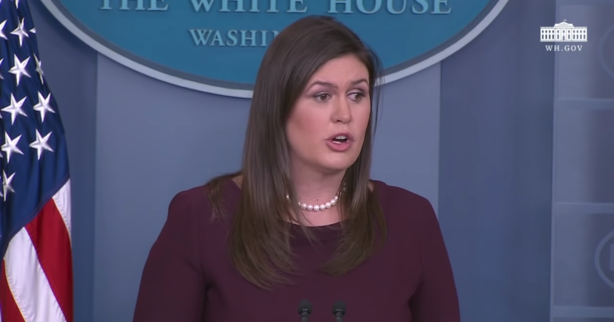 White House press secretary Sarah Sanders responds to CNN reported Jim Acosta during a briefing on Oct. 3, 2018