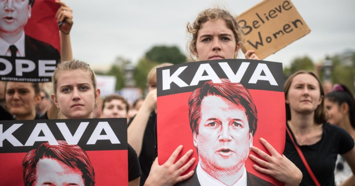 Anti-Kavanaugh protesters