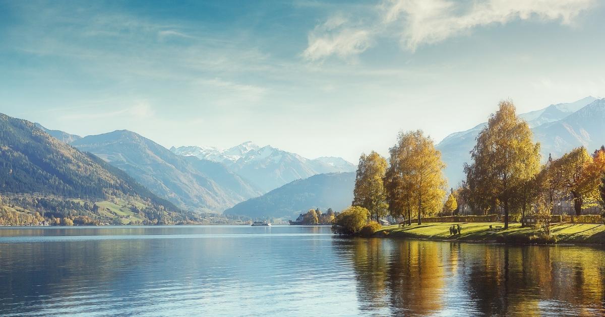Sunny day in Alps.