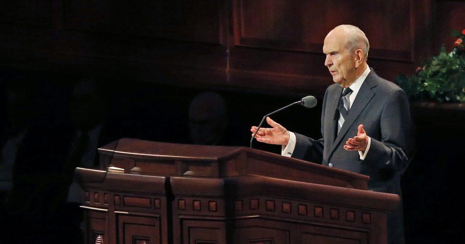 The Church of Jesus Christ of Latter-day Saints President Russell M. Nelson speaks