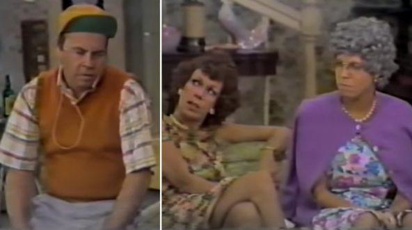 Tim Conway, left, Carol Burnett, center, and Vicki Lawrence during an episode of 'The Carol Burnett Show.'
