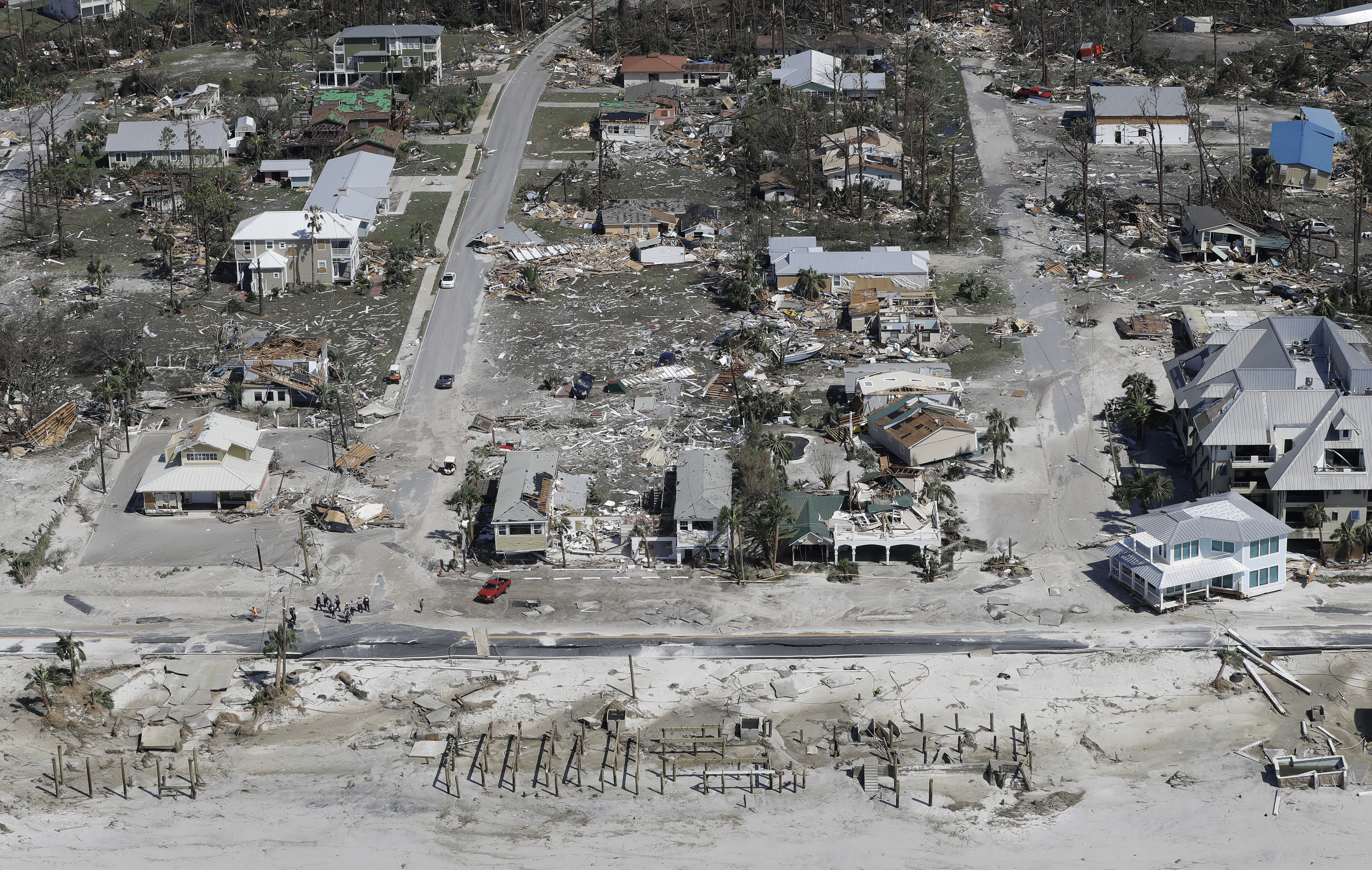 Homes destroyed by Hurricane Michael