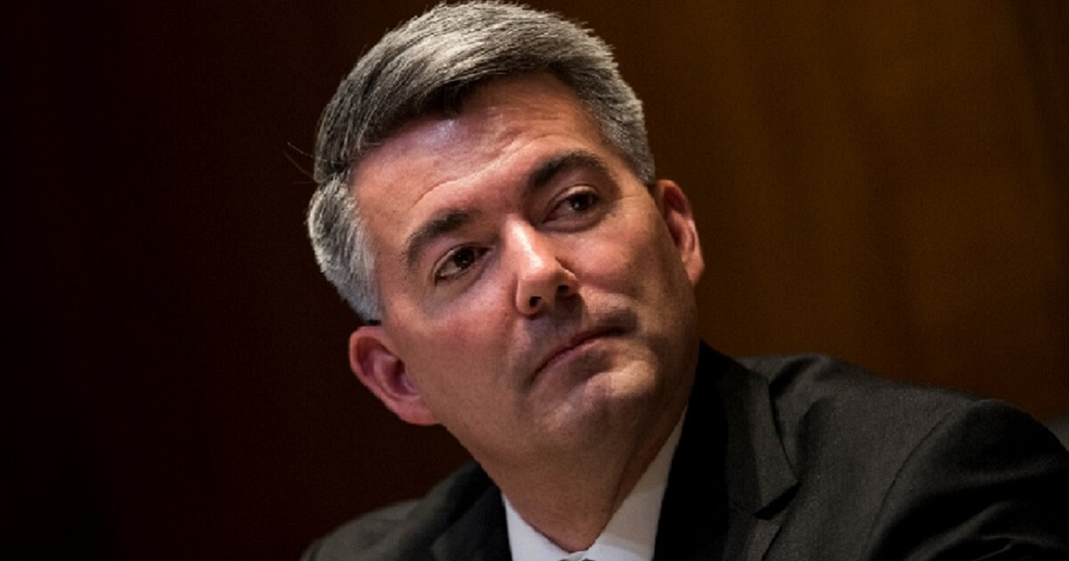 Cory Gardner pictured during a February Senate committee meeting.
