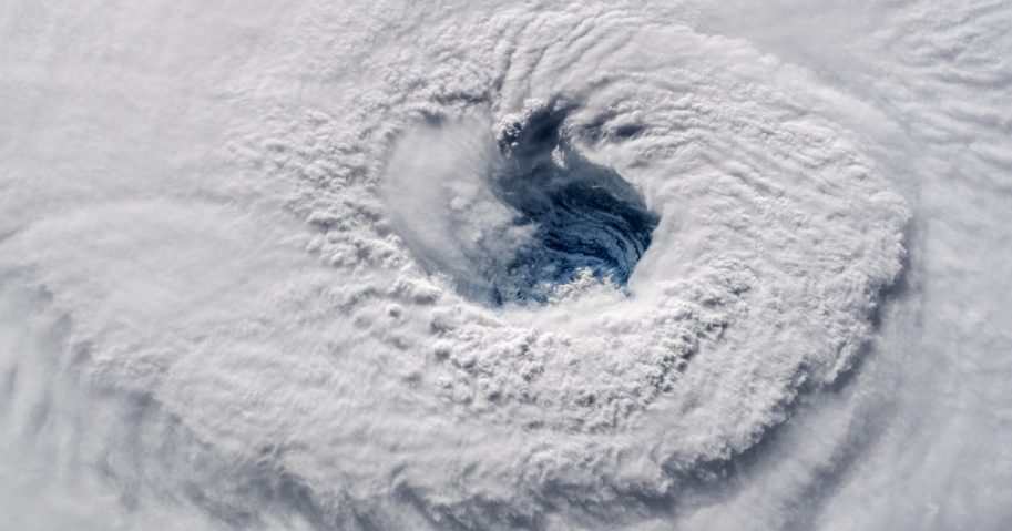 Hurricane Florence eye as viewed from the International Space Station.