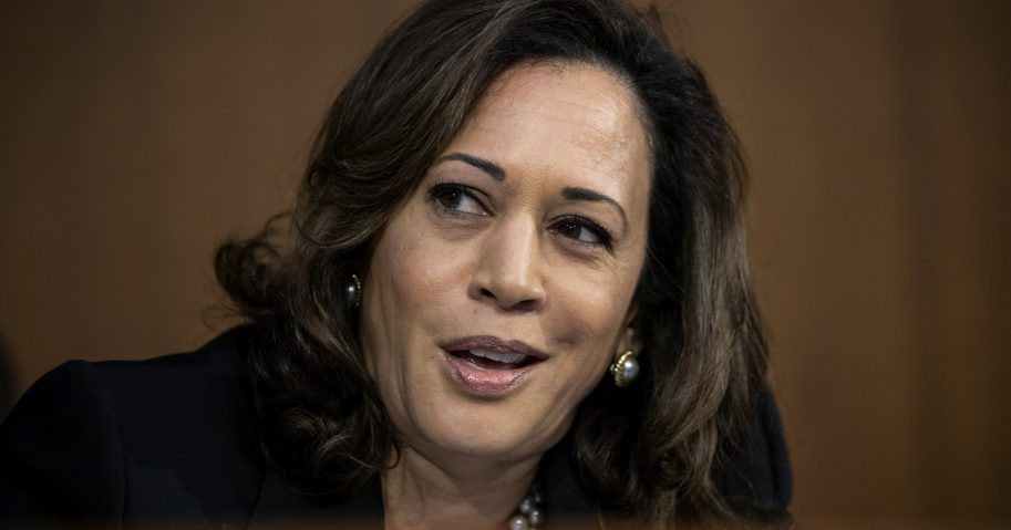 In this Sept. 4, 2018, file photo, Sen. Kamala Harris, D-Calif., speaks during the confirmation hearing of President Donald Trump's Supreme Court nominee, Brett Kavanaugh, on Capitol Hill in Washington. Harris is making her debut in South Carolina as a potential presidential candidate.