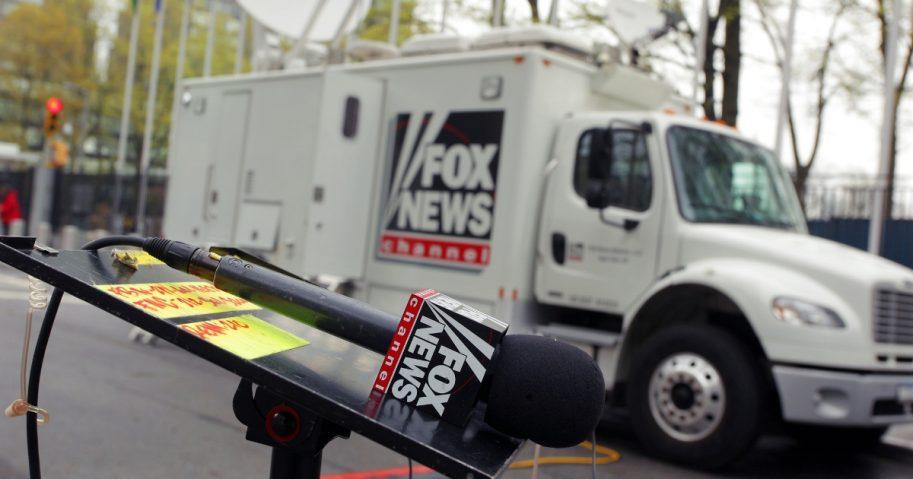 Fox broadcasting truck