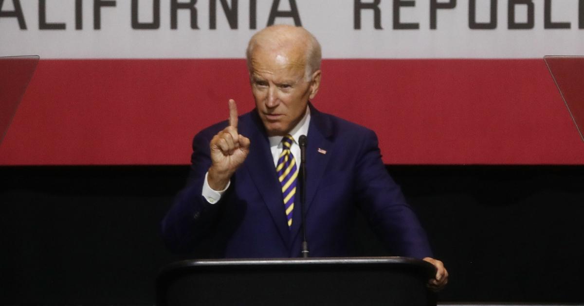 Former U.S. Vice President Joe Biden speaks at a mid-term elections rally on October 4, 2018 in Fullerton, California.