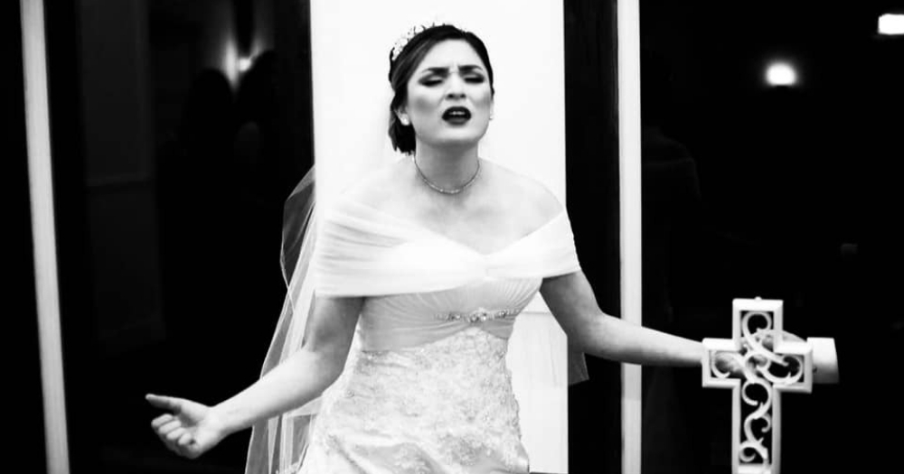 Krystell Caycedo on Wedding Day