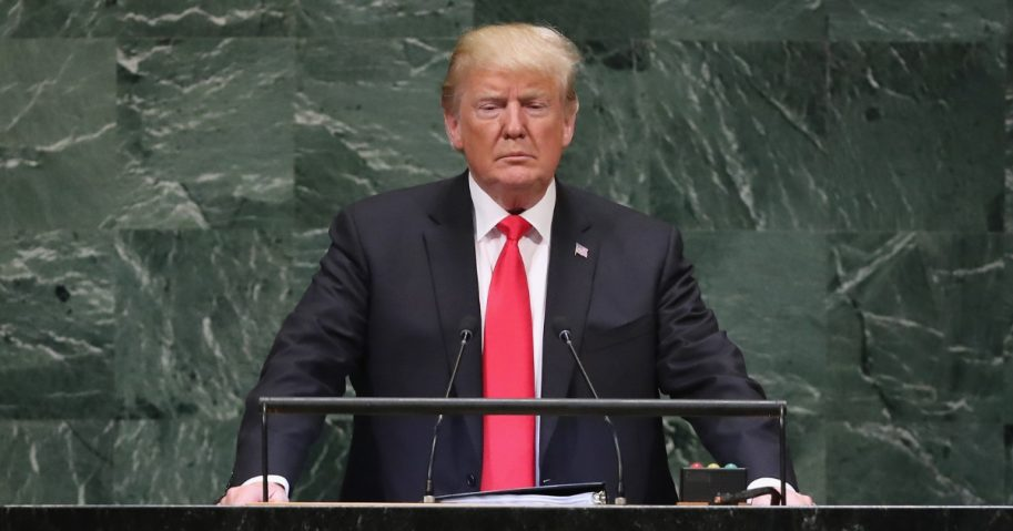 Donald Trump speaks at United Nations