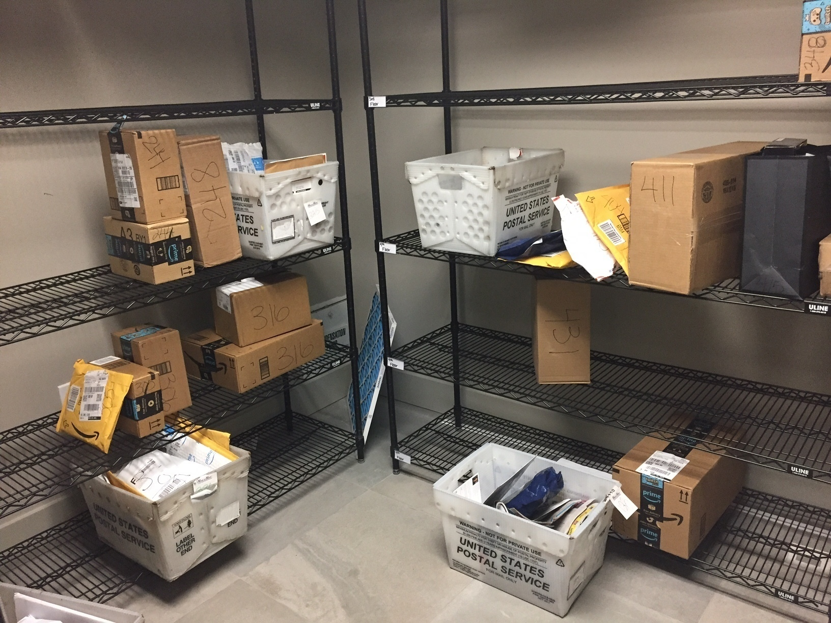 packages from Internet retailers