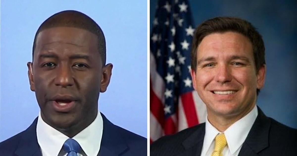Democrat Andrew Gillum, left, and Republican Ron DeSantis