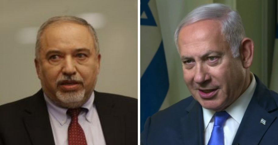 Avigdor Lieberman and Benjamin Netanyahu