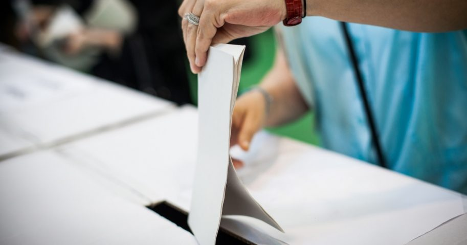 Ballot into Box