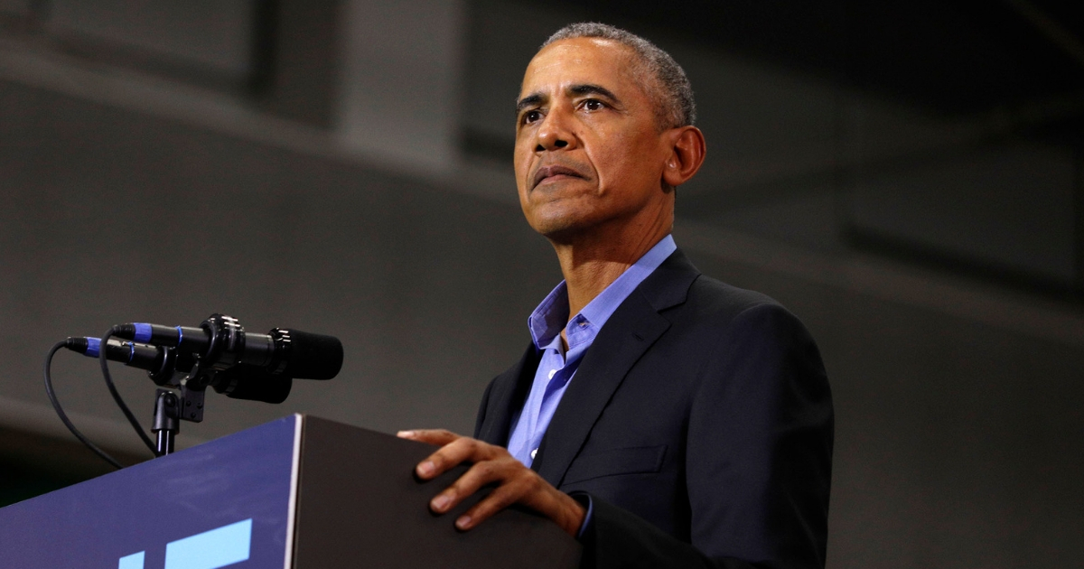 Former President Barack Obama speaks at a rally to support Michigan democratic candidates at Detroit Cass Tech High School on Oct. 26, 2018.