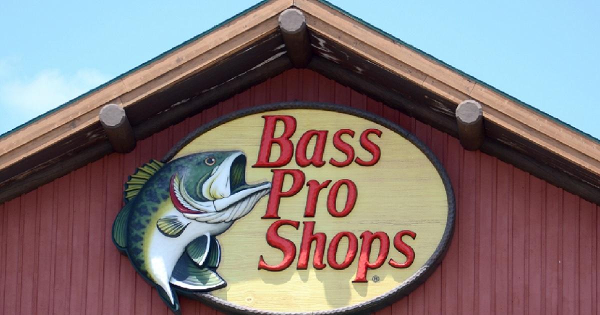A Bass Pro Shop sign