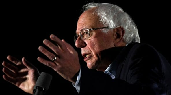 Sen. Bernie Sanders of Vermont speaks in support of Florida gubernatorial candidate Andrew Gillum at the University of Central Florida on Wednesday.