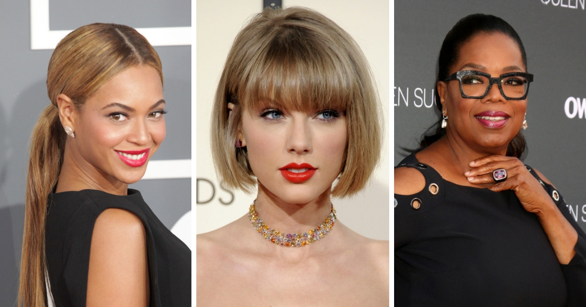 Beyonce, Taylor Swift and Oprah Winfrey