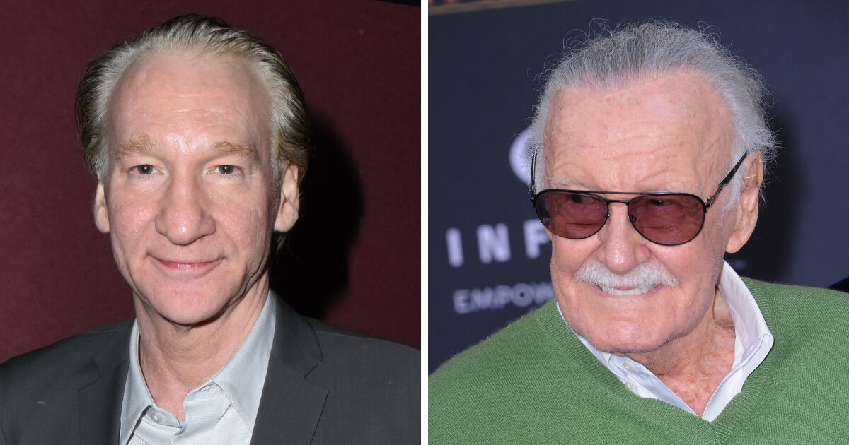 Bill Maher and Stan Lee