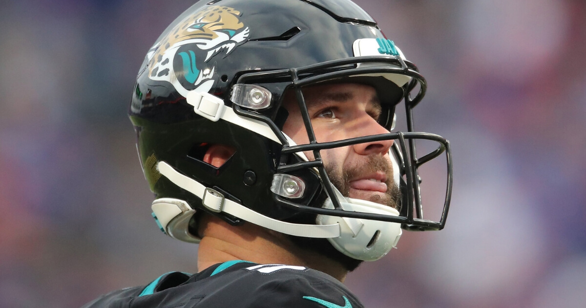 Blake Bortles of the Jacksonville Jaguars looks on during Sunday's game against the Buffalo Bills at New Era Field.