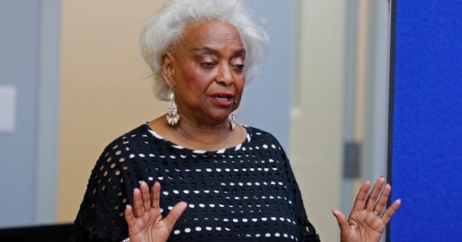 Dr. Brenda Snipes, Broward County Supervisor of Elections, makes a statement during a canvassing board meeting on Nov. 10, 2018.