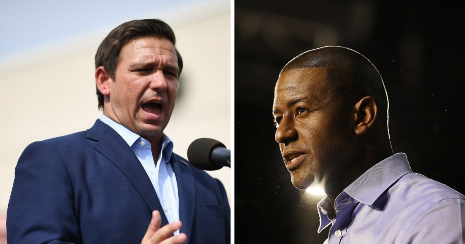 Republican Ron DeSantis and Democrat Andrew Gillum