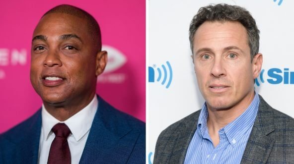 CNN hosts Don Lemon (left) and Chris Cuomo (right)