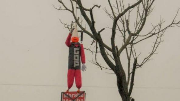 A doll representing Republican Rep. Marsha Blackburn was hung in effigy last week in Tennessee.