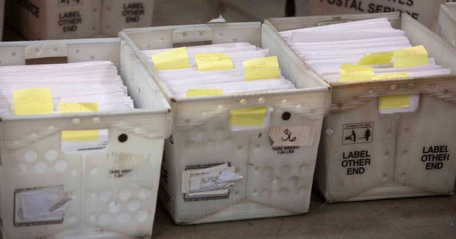 Florida ballots in boxes