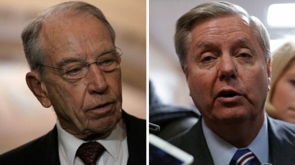 Sen. Chuck Grassley, R-Iowa, left, is stepping down as chairman of the Judiciary Committee. Sen. Lindsey Graham, R-S.C., is next in line for the post.