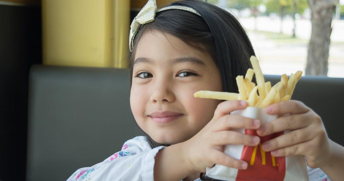 Happy Girl McDonalds