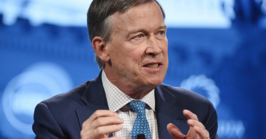 Colorado Gov. John Hickenlooper speaks during an event Sept. 24 in New York City.