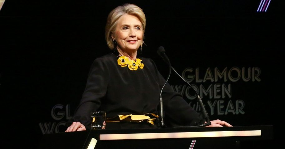 Hillary Clinton speaks onstage at the 2018 Glamour Women of the Year Awards: Women Rise on Nov. 12, 2018, in New York City.