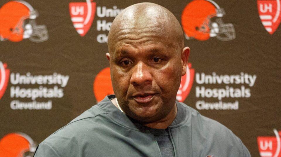 Former Cleveland Browns coach Hue Jackson.