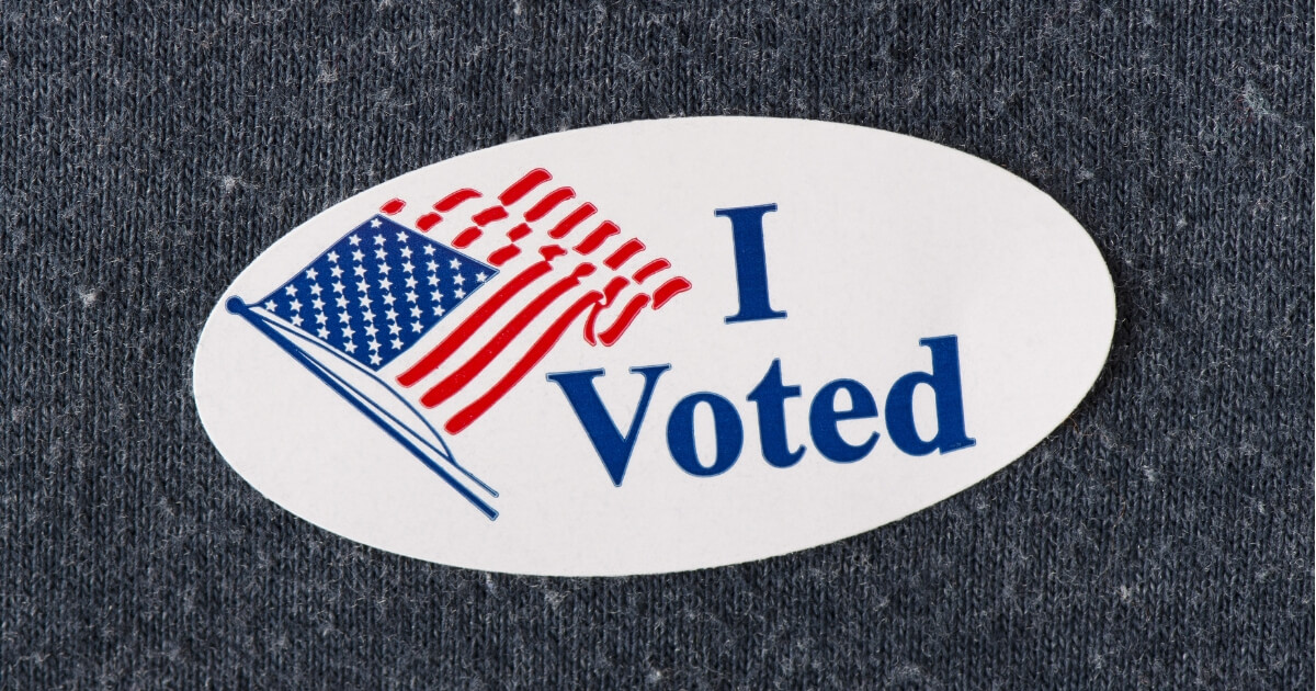 It's just an image of Gorgeous I Voted Stickers Printable