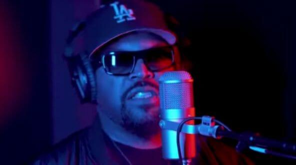 Rapper Ice Cube sings