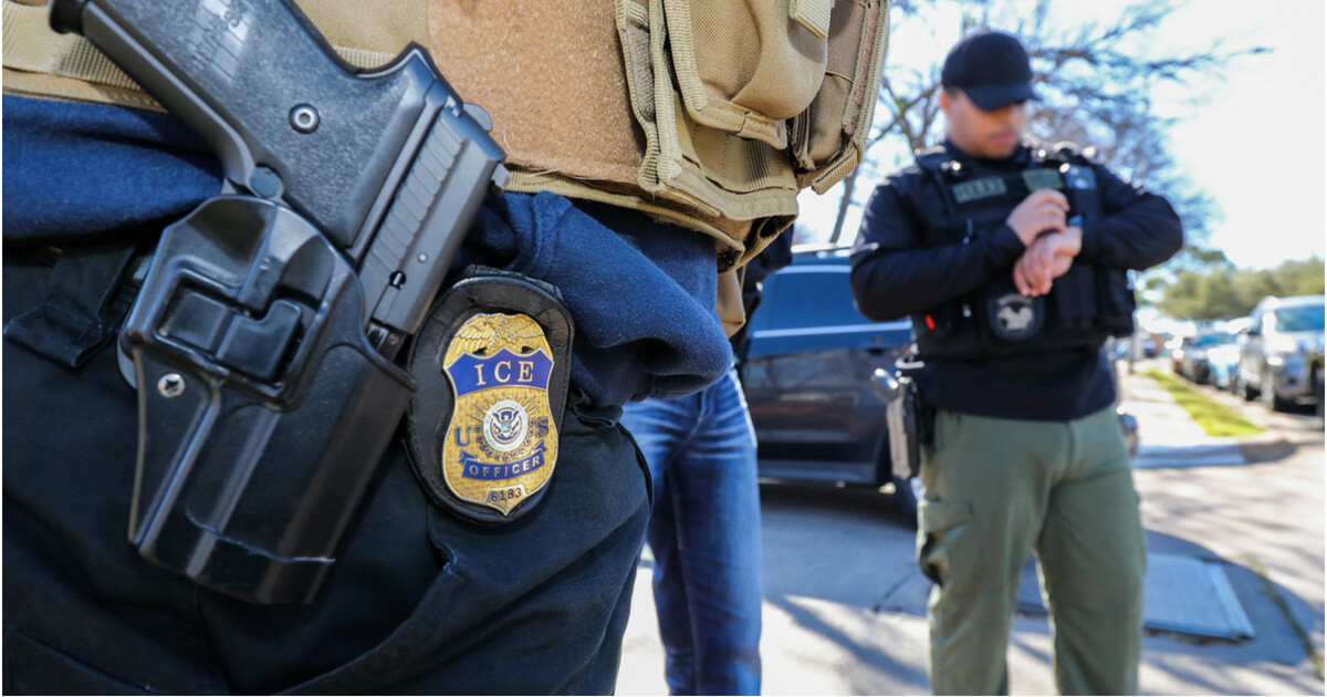 File photo of ICE agents