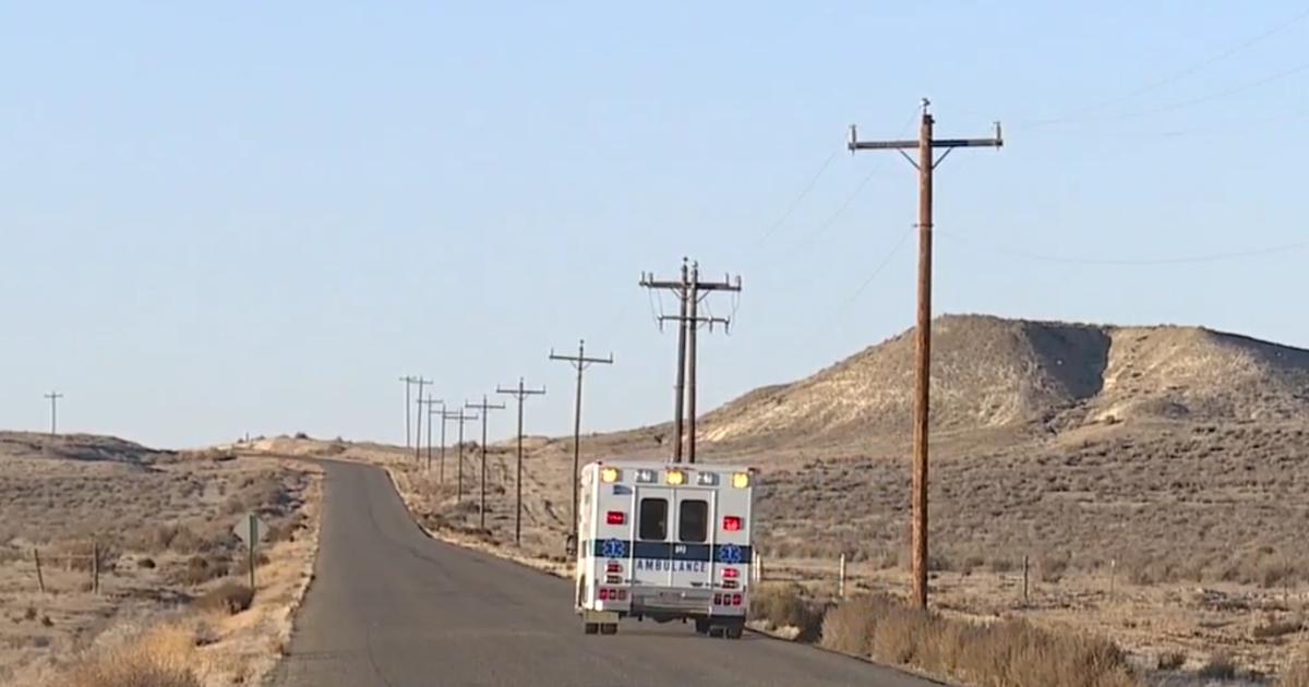 an ambulance drives down a road in Idaho