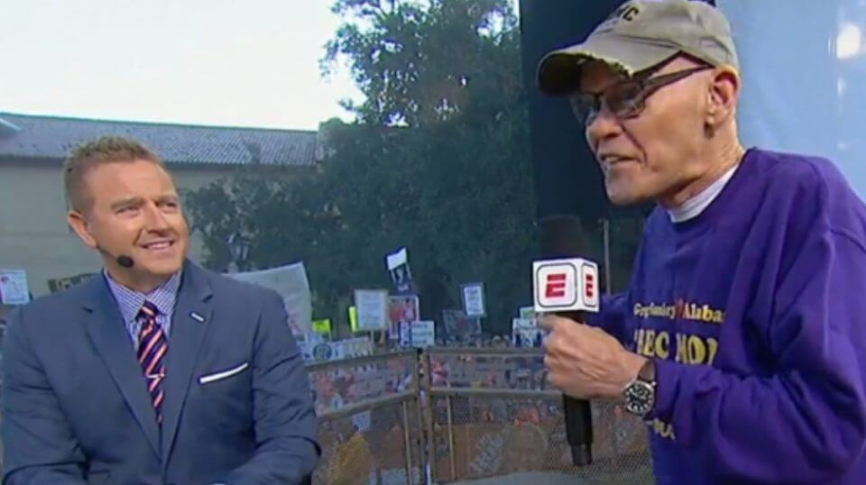 James Carville appears on ESPN's 'College Gameday'