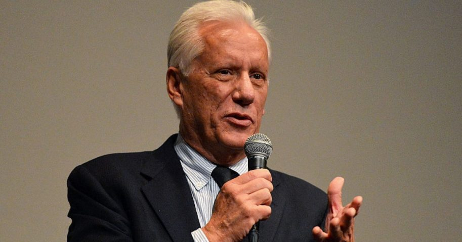 James Woods speaking from stage