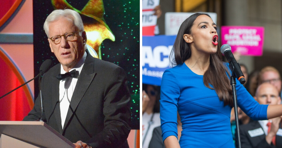 James Woods and Alexandria Ocasio-Cortez